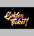 golden ticket 3d gold golden text metal logo icon