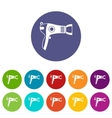 Hairdryer set icons vector image vector image