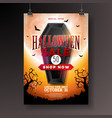 halloween sale with black coffin vector image vector image