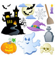 halloween theme collection 1 vector image