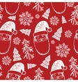 hand drawn seamless Christmas pattern vector image vector image