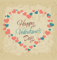 happy valentine day hand drawing lettering vector image vector image
