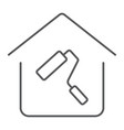home repair thin line icon real estate and home vector image