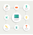 Infographic design with paper creative icons vector image vector image