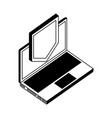laptop computer with shield isometric icon vector image vector image