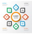learning icons set collection of solution vector image vector image