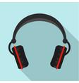 modern headphones icon flat style vector image vector image