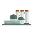 nuclear plant or industrial factory building vector image vector image