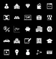 Passive income icons on black background vector image vector image