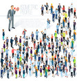 people crowd isometric abstract vector image vector image