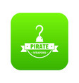 pirate weapon icon green vector image