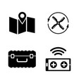 quadrocopter simple related icons vector image vector image