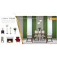Realistic home interior composition