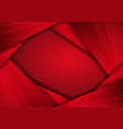 red modern technology design background with dots vector image