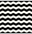 Retro seamless Wave pattern in black and white vector image vector image
