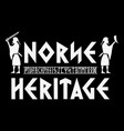 scandinavian viking design viking warriors vector image vector image