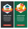 school banners green black vector image vector image