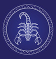scorpion emblem horoscope zodiac symbol vector image