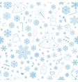 Seamless pattern with snowflakes and xmas symbols