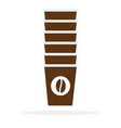 set disposable coffee cups flat isolated vector image