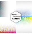set of abstract background with geometric elements vector image vector image
