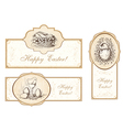 Set of vintage easter labels vector image
