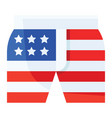 shorts united state independence day related icon vector image vector image