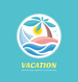summer travel vacation logo concept vector image vector image
