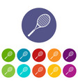tennis racket icons set color vector image vector image
