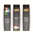 three vertical school banner set