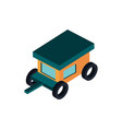 trailer transport vehicle isometric icon vector image