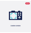two color camera screen icon from electronic vector image