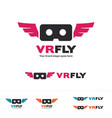 virtual reality drone fly for first person view vector image vector image