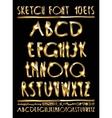 volumetric gold letters vector image