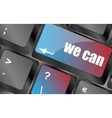 we can button on computer keyboard key vector image vector image