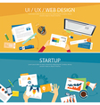 web design and startup concept flat design vector image vector image