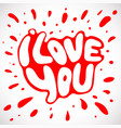 words i love you shaped in heart symbol vector image vector image