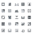 Abstract Building Icons vector image
