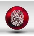 Fingerprint icon finger print id theft macro stamp vector image