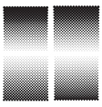 Halftone effect backgrounds vector image