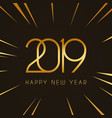 2019 happy new year design template vector image vector image