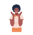afro american woman with happy facial expression vector image