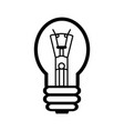 an incandescent lamp vector image vector image