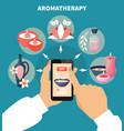 aromatherapy online menu flat poster vector image