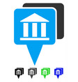 bank map pointers flat icon vector image vector image