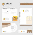 beer logo calendar template cd cover diary and vector image vector image