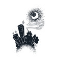 cartoon dark city vector image vector image