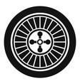 casino wheel icon simple style vector image vector image