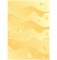 cheese abstract yellow background vector image