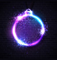 christmas neon sign xmas decoration background vector image vector image